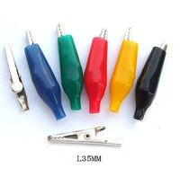Tüketici Elektroniği'ten Pil Aksesuarları ve Şarj Aksesuarları'de DHL/EMS 1000x renkler 35MM Timsah Klip Kelepçe test test Probe A8