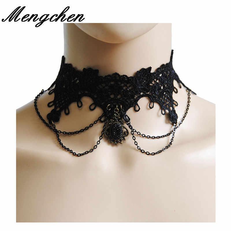 Spitze Perlen Choker viktorianischen Steampunk Gothic Kragen Halskette Geschenk