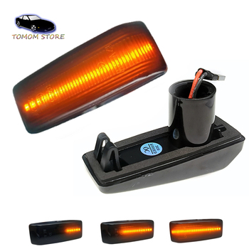 Dynamic LED Side Marker Lights Car Turn Signal Repeater Lamp For Mercedes-Benz W201 190 W202 W124 W140 R129 SL-CLASS image