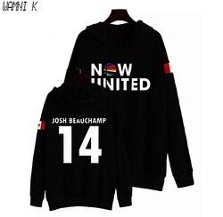 Wamni 2020 agora united hoodie moletom com capuz masculino canadá josh beauchamp 14 pulôver unissex harajuku tracksui