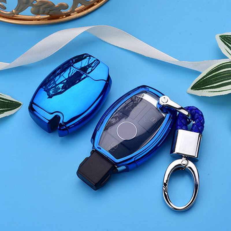 pcmos TPU Car Key Case Cover Holder For Mercedes Benz GLA200/C/S/E/GLC/GLK/CLA/ML/GLE /W204 /W251 /W463 /W176 Protective Shell image