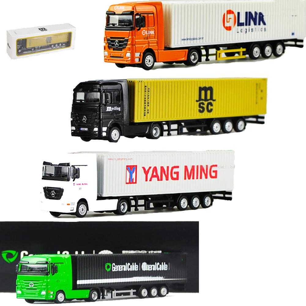 1/87 Scale Container Container Diecast Alloy Truck Model MSC Mediterranean Sea Shipping Transport Vehicle Toys Gift Collection