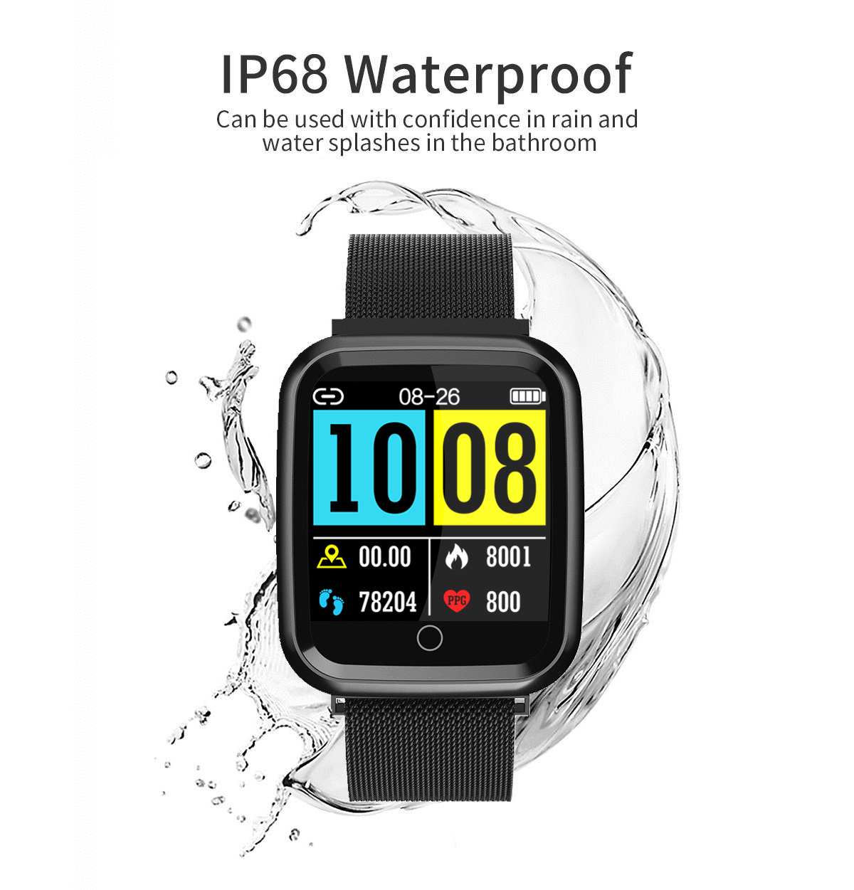 DAROBO N99 Sport and Heart rate monitor Smart watch with Waterproof Blood pressure monitor for men women available in Android IOS 15