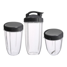 3Pcs Replacement Cups 32 Oz Colossal +24 Oz Tall +18oz Small Cup+3 Lids For Nutribullet Fruit Juicer Parts Kitchen Appliance B nutribullet nutri bullet flip top to go lid for mug cup 18 oz 24 oz 32 oz 900w 600w watt new not used 38