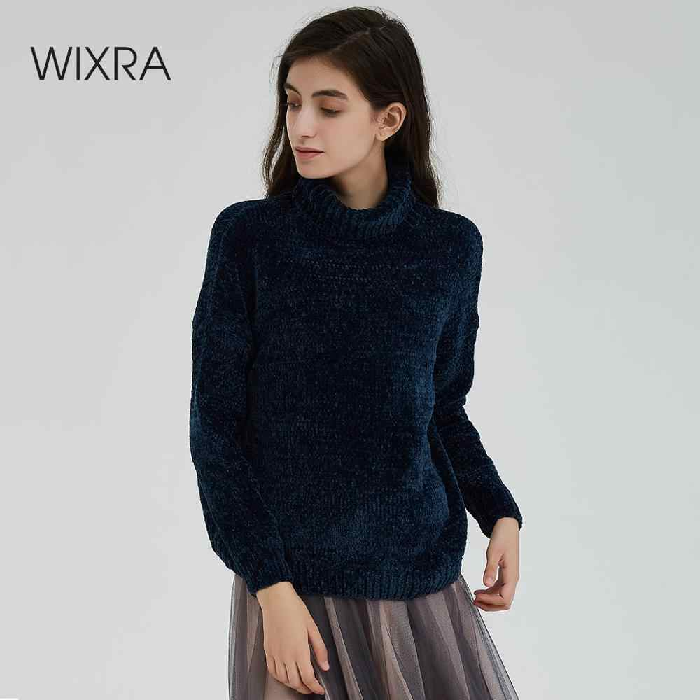 Wixra Turtleneck Women Sweater Stylish Chenille Autumn Winter Warm Female Jumper Thick Sweaters Knitted Pullover Top Pull Femme