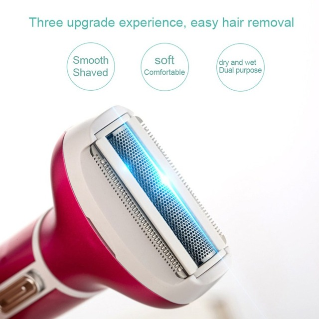 Multifunctional 4 in 1 Hair Remover Electric Epilator Hair Shaver Painless Portable USB Epilator Nose Beard Eyebrow Trimmer 3