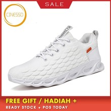 цена на CINESSD New Lightweight Cushioning Running Shoes Breathable Sport Shoes Comfortable Sneakers Men Athletic Training Jogging Shoes