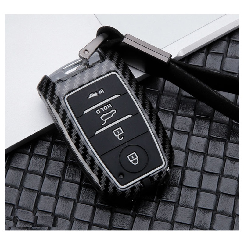 Carbon Alloy Silicone Key Case For Kia KX3 KX5 K3S RIO Ceed Cerato Optima K5 Sportage Sorento Smart Remote Fob Cover Protect Bag