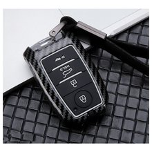 Capa de liga de carbono + chave de silicone, para kia kx3 kx5 k3s rio ceed cerato opma k5 sportage sorento remoto inteligente tampa da chave saco proteger