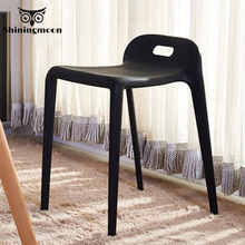 Nordic Minimalism Plastic Stool Dining Chairs Modern Restaurant Dining Rooms Furniture Living Room Bedroom Plastic Dining Stool living room plastic abs stool retail reading room bedroom notebook computer stool black red green orange color free shipping