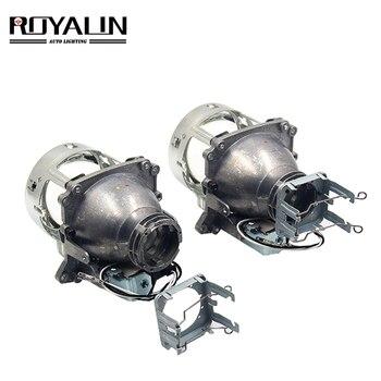 цены ROYALIN AL Bi Xenon Projector Headlights Lens D2S For BMW E46 E39 E60 X5 E70 Audi A3 A4 Mercedes W203 W204 VW Golf GTI Touran