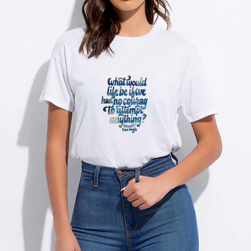 Van Gogh Runde Kragen Harajuku Billige T-shirt Lose T-shirt Casual Frühling Sommer Hipster Vintage Streetwear Oversize Punk T hemd