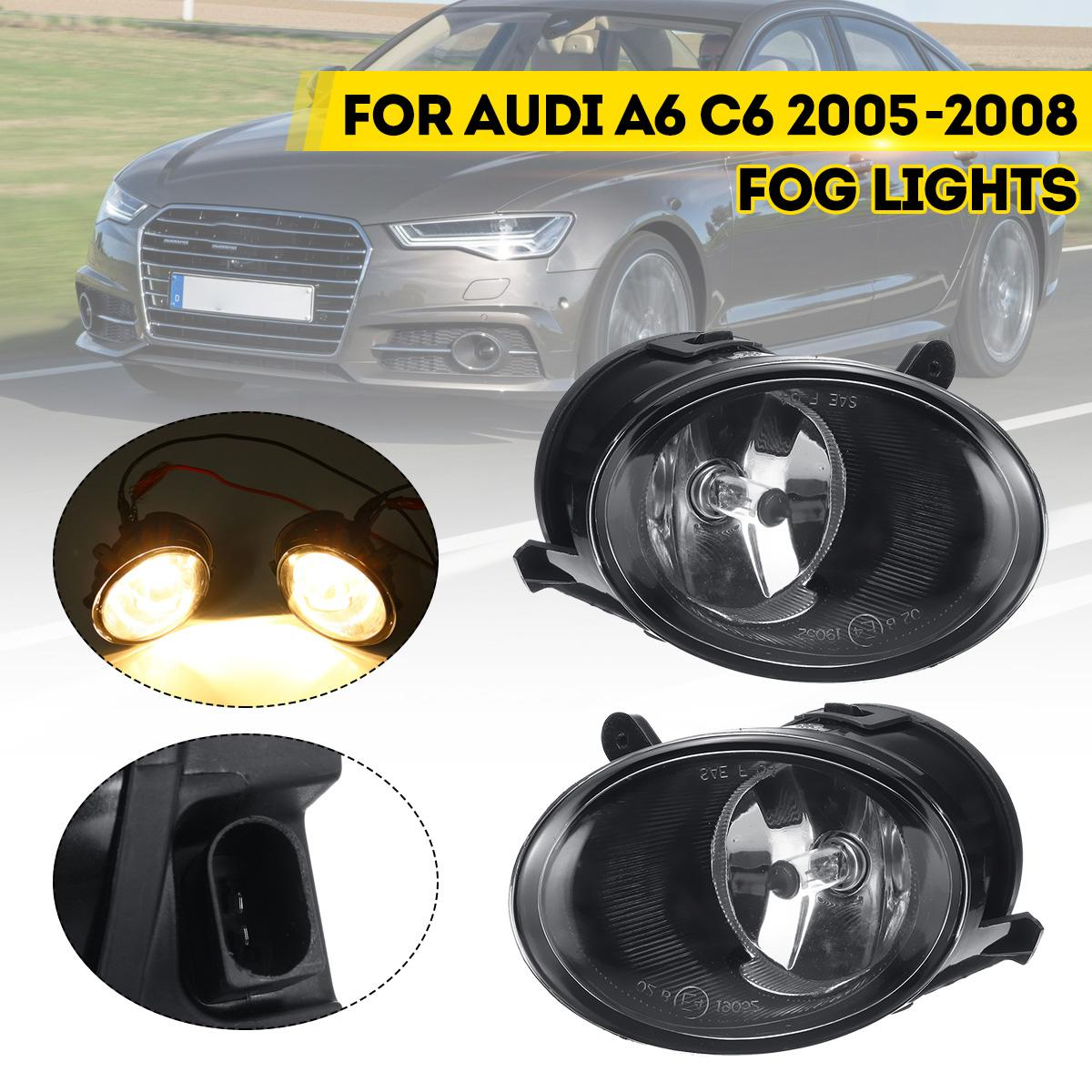 Car Front Bumper Fog Light For Audi A6 C6 2005 2006 2007 2008 Bulb Styling Replacement Driving Headlights Lamp 12V image