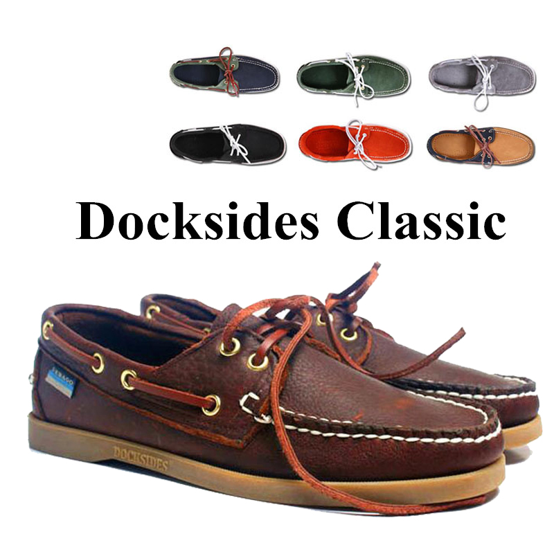 Mens Women Spinnaker Genuine Suede Leather Docksides Classic Boat Shoes High Quality Men 2019A121