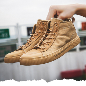 Image 4 - TaoBo High top Casual Shoes for Men Khaki Outdoor Sport Sneaker for Male Size 39 44 Light Weight Anti Slippery Shoes