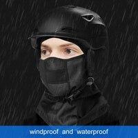 Máscaras proteção inverno headwear ciclismo máscara facial completa balaclava à prova de chuva à prova vento boca térmica|Máscara facial p/ ciclismo| |  -