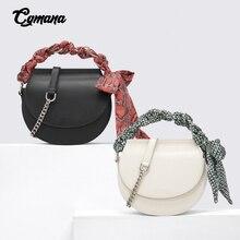 Saddle Small Qquare Bag 2019 Quality Leather Crossbody Bag Purse Women Scarf Saddle Bag Crossbody Chain Bag Women's Shoulder Bag цена 2017