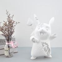 ERODED PIKACHU ornament Resin Statue Figure Collectible Art Home Decoration Sculpture Resin Art&Craft Modern Decorations