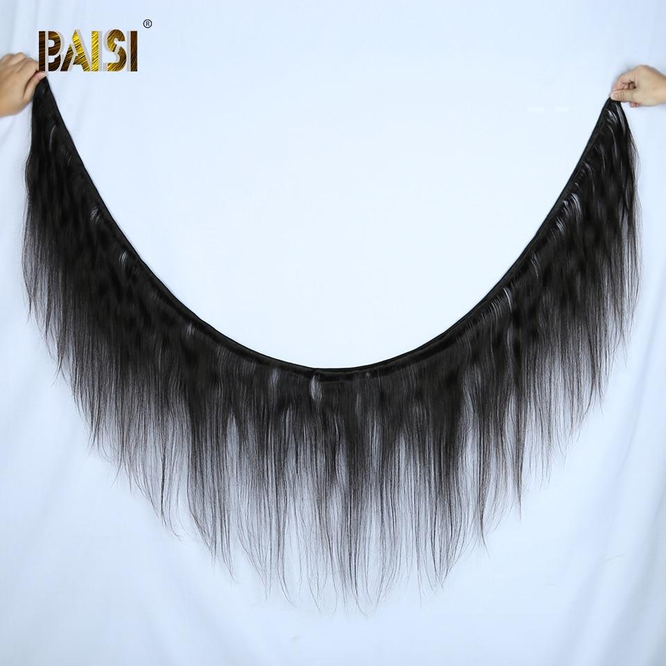 Image 2 - BAISI Hair Peruvian 38 40 42 Inch Virgin Hair Weave Hair Straight Hair Bundles Long Bundles Hair 100% Human Hair bundles-in Hair Weaves from Hair Extensions & Wigs