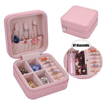 Charm Lady PU Imitation Leather Jewelry Box Ring Necklaces Storage Display Case Women Jewellery Organizer брюки lady charm