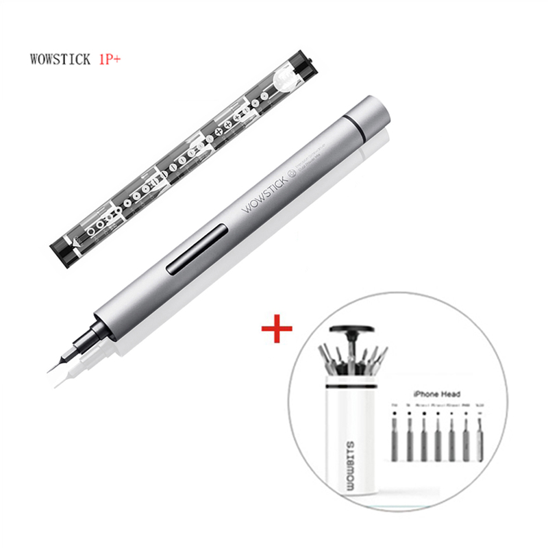 New Wowstick 1p precision mini wireless screwdriver with 2 batteries for smartphone camera repair tool and box