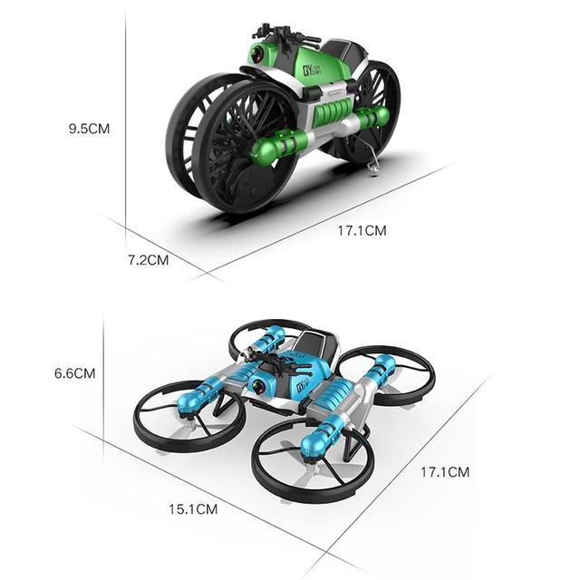Transforming Motorcycle RC Drone