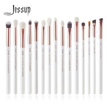 Jessup Professional Makeup Brushes Set 15pcs Pearl White/Rose Gold Eye Shadow Make up Brush Eye Liner Natural-synthetic hair 1