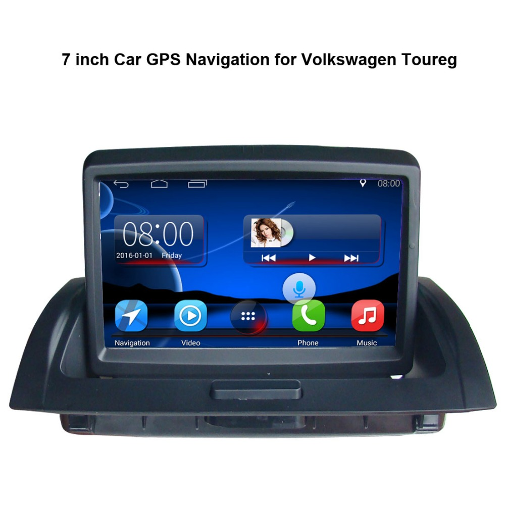 7 inch Android 7.1 Touch Screen Car Media Player for Volkswagen VW Touareg GPS Navigation Bluetooth Video player wifi image