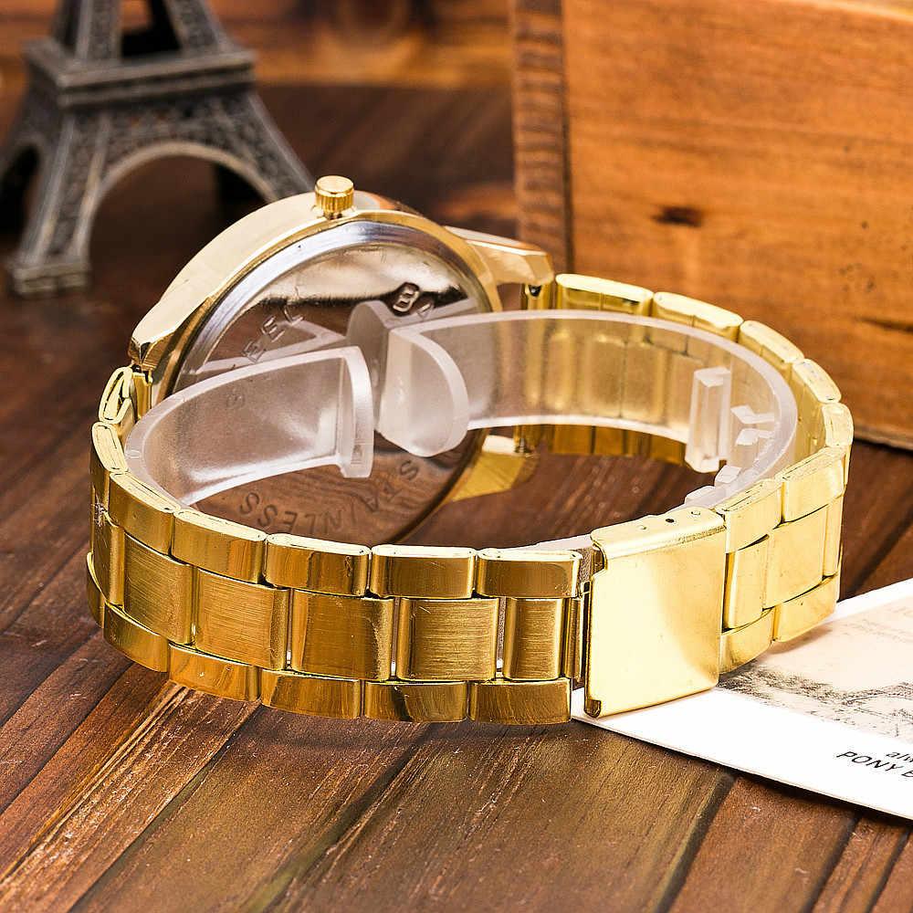 Paslanmaz çelik İzle yeni gül altın gümüş altın kuvars saat erkek kadın kore elmas arama lüks zarif часы женские 04