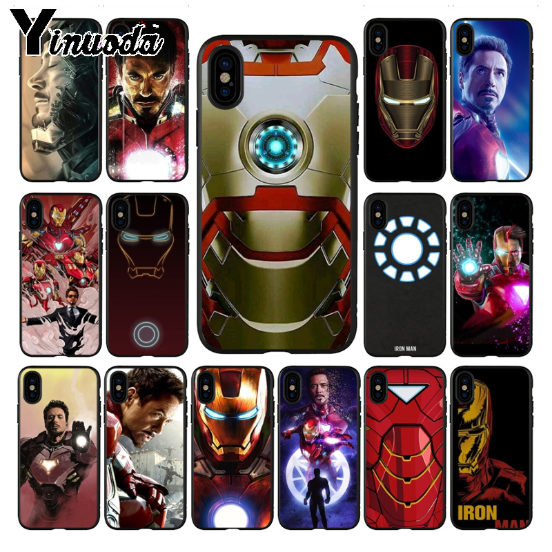 Yinuoda Tony Stark <font><b>Marvel</b></font> Iron Man Cute Phone <font><b>Cases</b></font> for <font><b>xiaomi</b></font> <font><b>redmi</b></font> 7 5plus 6pro 6a 4x go note5 note7 note6pro mi8se 9se cover image