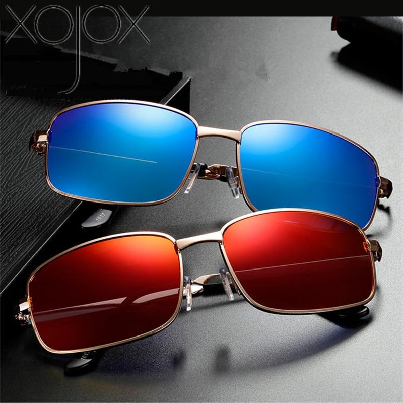 Mens Rectangular Anti-Glare Polarized Sunglasses UV400 Driving Glasses Eyewear