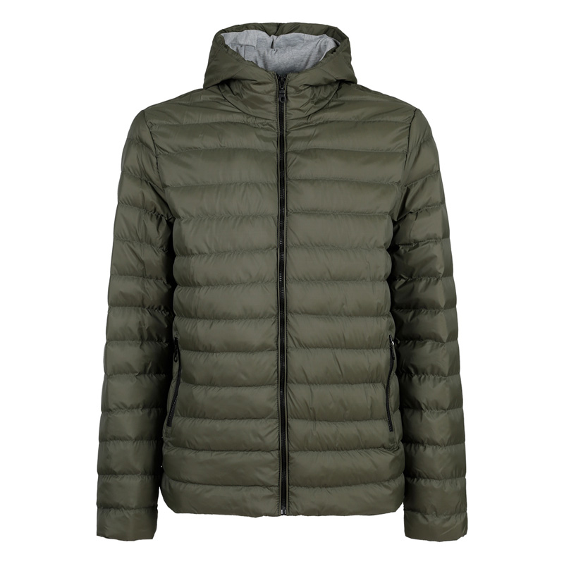 Athl DPT Hooded Padded Jacket-Green