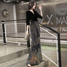 2020 vestito di Solito Può Indossare Giacimento di Gas delle Donne Moderne 2020 Nuovo Stile Sexy Fishtail Riunione Annuale del Pannello Esterno