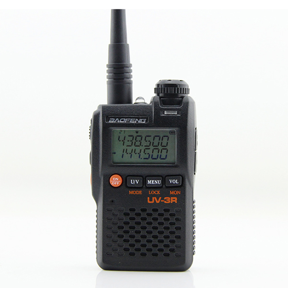 Baofeng Walkie Talkie Communciator UV-3R 136-174MHz 400-470MHz Mini Dual Band Ham Radio Station
