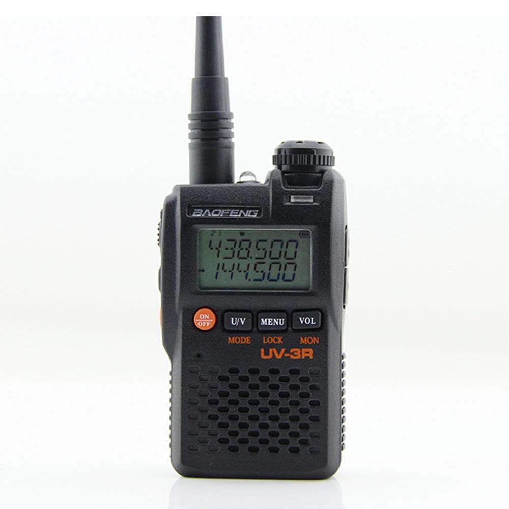 Baofeng Walkie Talkie Communciator UV-3R 136-174MHz 400-470MHz Mini Dual Band Ham Radio Station