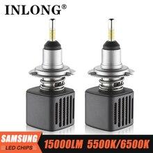 INLONG SAMSUNG Chip 9005 HB3 Led lampen H1 H11 H4 H7 9006 HB4 D1S D2S D3S D4S 6500K Auto led Auto Scheinwerfer Scheinwerfer Nebel Lichter