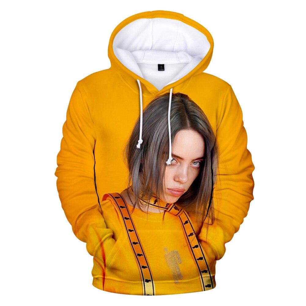 Fashion Billie Eilish New Hot Suitable Billie Eilish 3D Hoodies Children Men Women Kids Boys Girls 3D Hooded Sweatshirt Pullover
