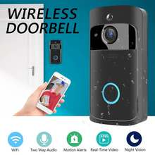 Smartphone WiFi Wireless Video Doorbell Remote Camera 2-way Audio Home Security Rainproof(China)