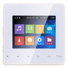Sistema di Musica di Bluetooth di Controllo Intelligente Altoparlante da Soffitto Moduli Sistema Home Audio Amplificatore Stereo Digitale in Parete per Hotel