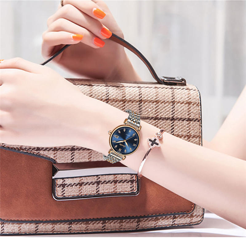 LIGE Brand SUNKTA 2020 New Women Watch Top Luxury Brand Creative Design Steel Women WristWatch Waterproof Clock Relogio Feminino