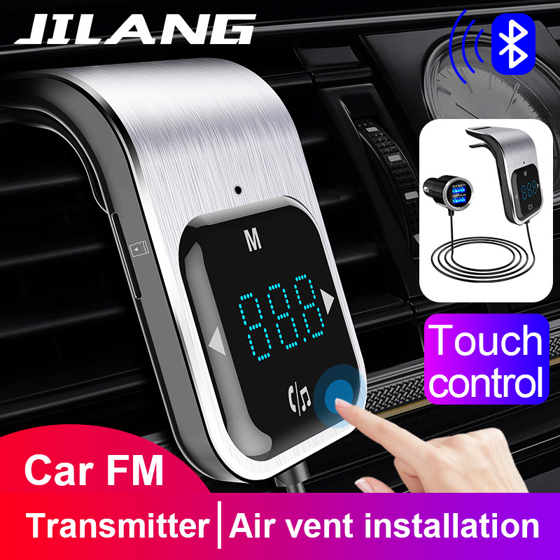 <font><b>FM</b></font> <font><b>Transmitter</b></font> <font><b>Bluetooth</b></font> <font><b>Car</b></font> Wirless Radio <font><b>Adapter</b></font> AUX <font><b>MP3</b></font> Player <font><b>FM</b></font> Modulator with Hands-free Speaking Dual USB Fast <font><b>Charger</b></font> image