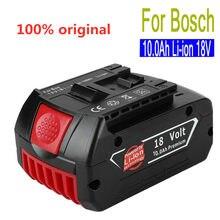 18V 10.0Ah 10000 mah Rechargeable Li-ion batterie Portable remplacement batterie de secours indicateur lumineux pour Bosch BAT609