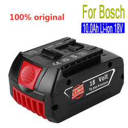 18V 10.0Ah 10000 mah Rechargeable Li-ion Battery Portable Replacement Battery Backup Battery Indicator light For Bosch BAT609