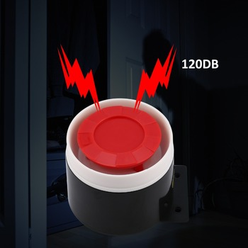 Wired Siren for Alarm Mini Horn Siren Home Flashing Light Security Sound Alarm System 120dB Durable 12V Wholesale image