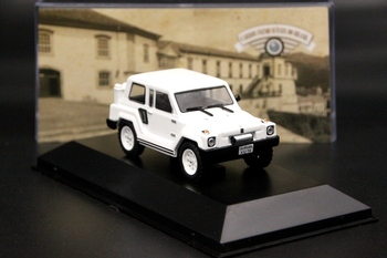 1:43 Gurgel X12 TR 1979 Car Diecast Models Limited Edition Collection White IXO Gifts image