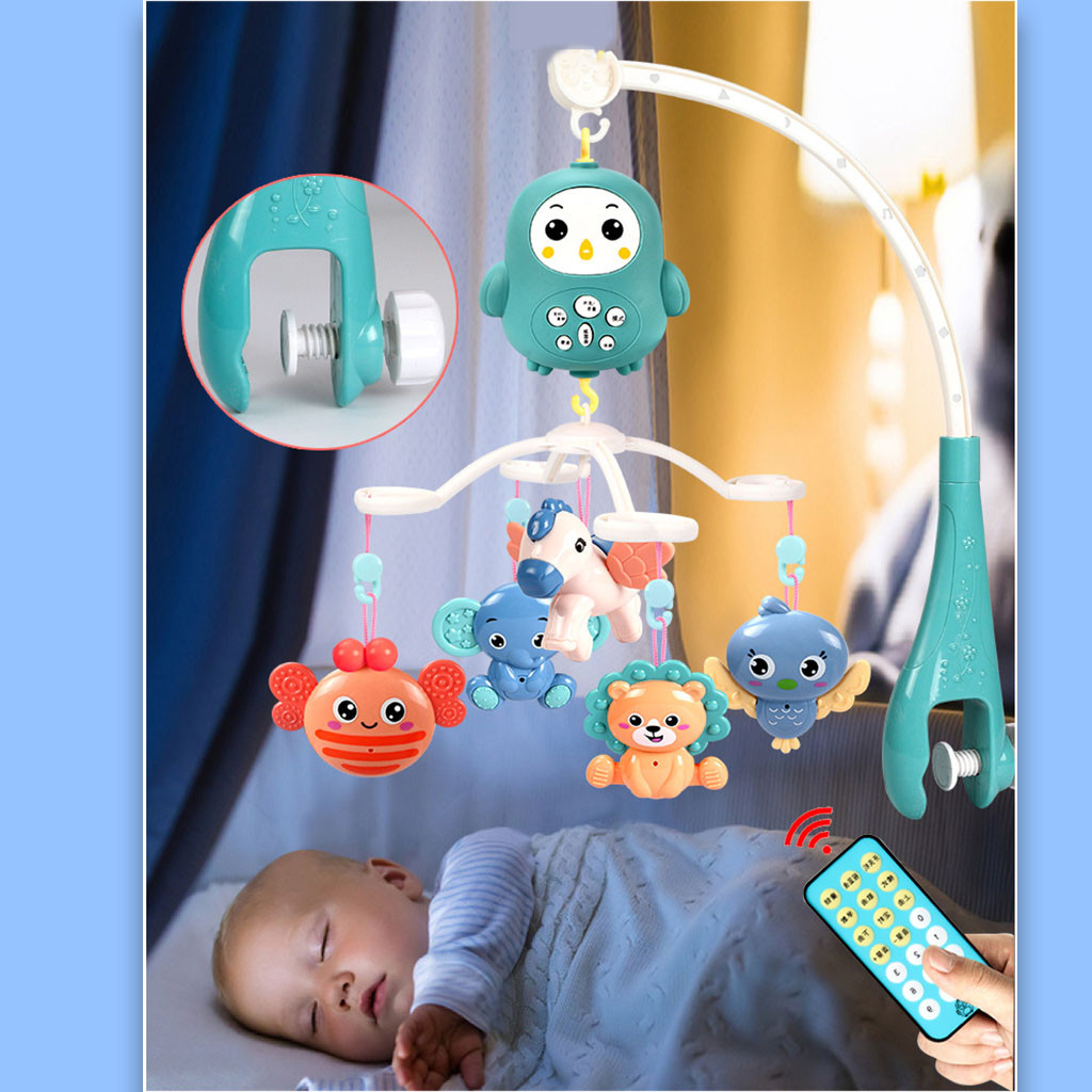 Baby Toys Months Crib Mobile With Remote Control Music Bed Bell Animal Rattle Accessories Kids Toys Juguetes Brinquedos игрушки