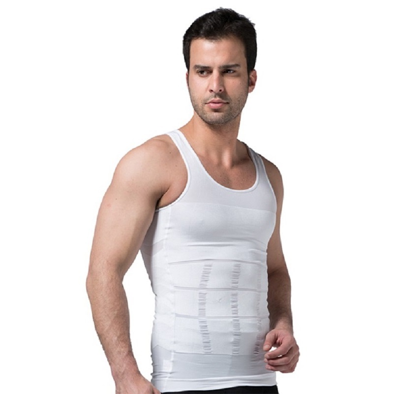2020 Men Slimming Body Shaper Tummy Shaper Vest Slimming Underwear Corset Waist Waist Cincher Men Bodysuit