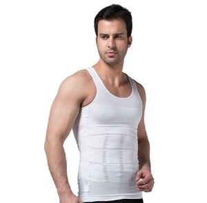2020 Men Slimming Body Shaper Tummy Shaper Vest Slimming Underwear Corset Waist Waist Cincher Men Bodysuit(China)