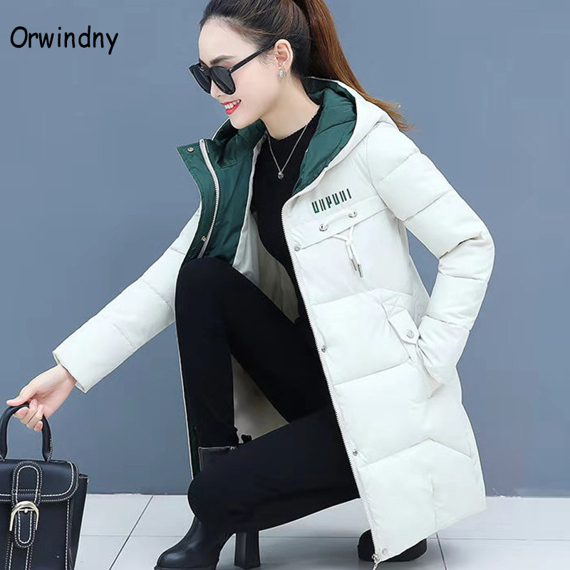 Orwindny Women Thicken   Parkas   Hooded 2020 New Winter Coat Women Plus Size S-3XL Wadded Jacket Long   Parka   Gilrs jaqueta feminina