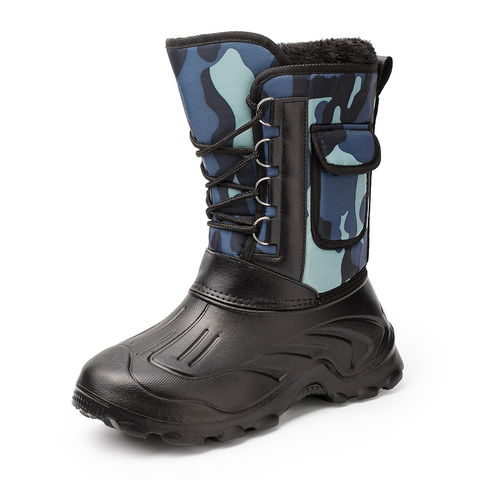 Waterproof Snow Boots Fishing Shoes Men Boots  Winter Warm Fur  Outdoor Camo Hunting Boots Camouflage winter shoes Size 41-46 Lahore
